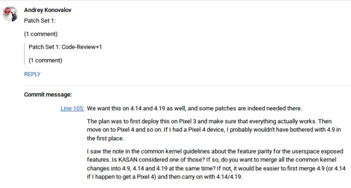 Google Pixel 4 AOSP reference