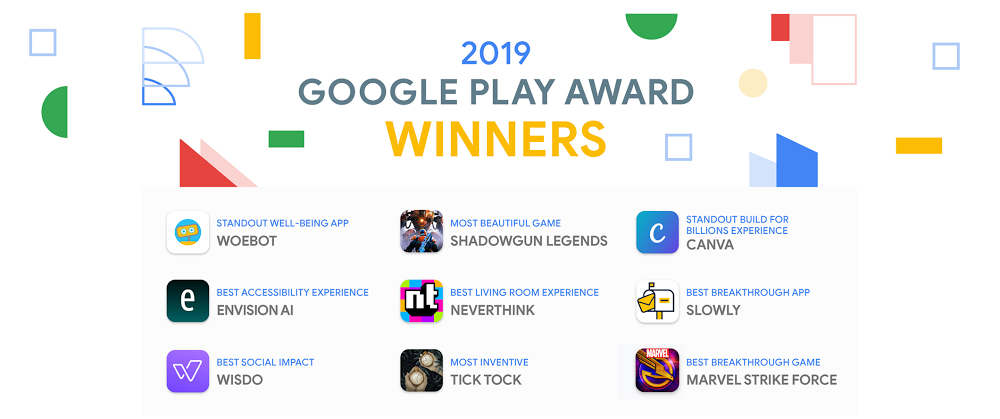 2019 Google Play Award winners