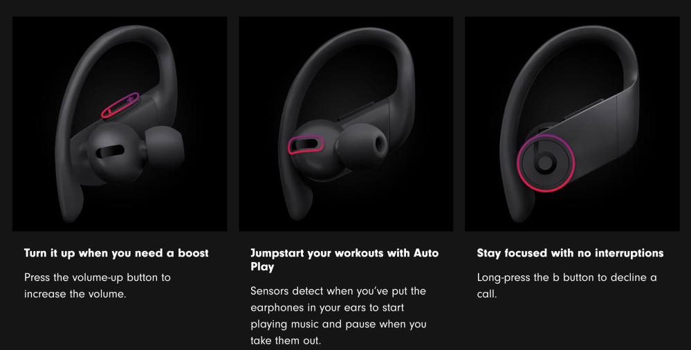 Powerbeats Pro Android controls