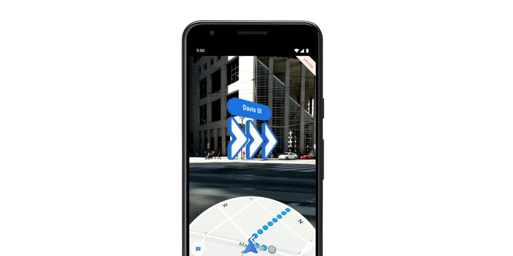 Google Maps AR Walking directions