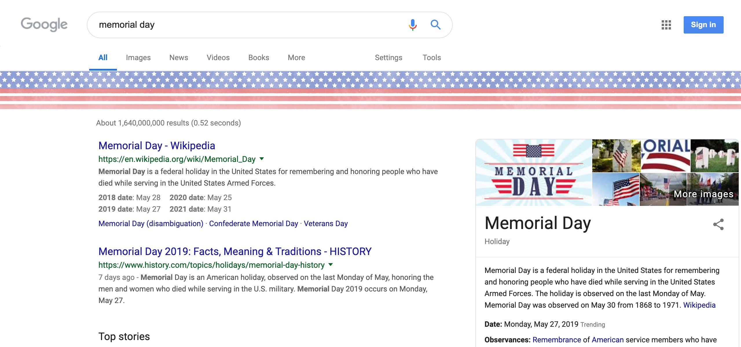 Google Doodle Memorial Day