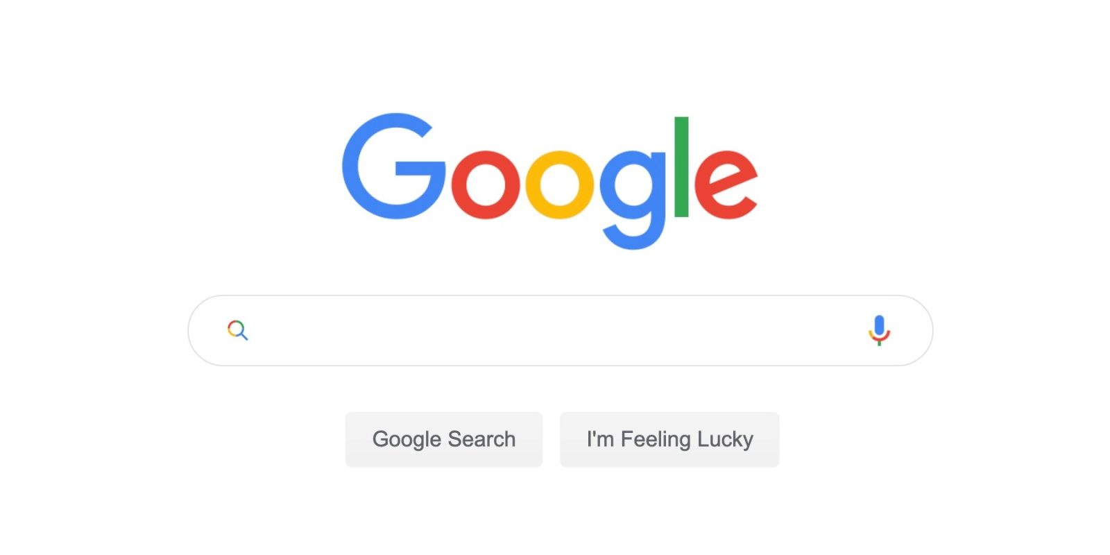 Google testing 'Search' button, colorful magnifying glass