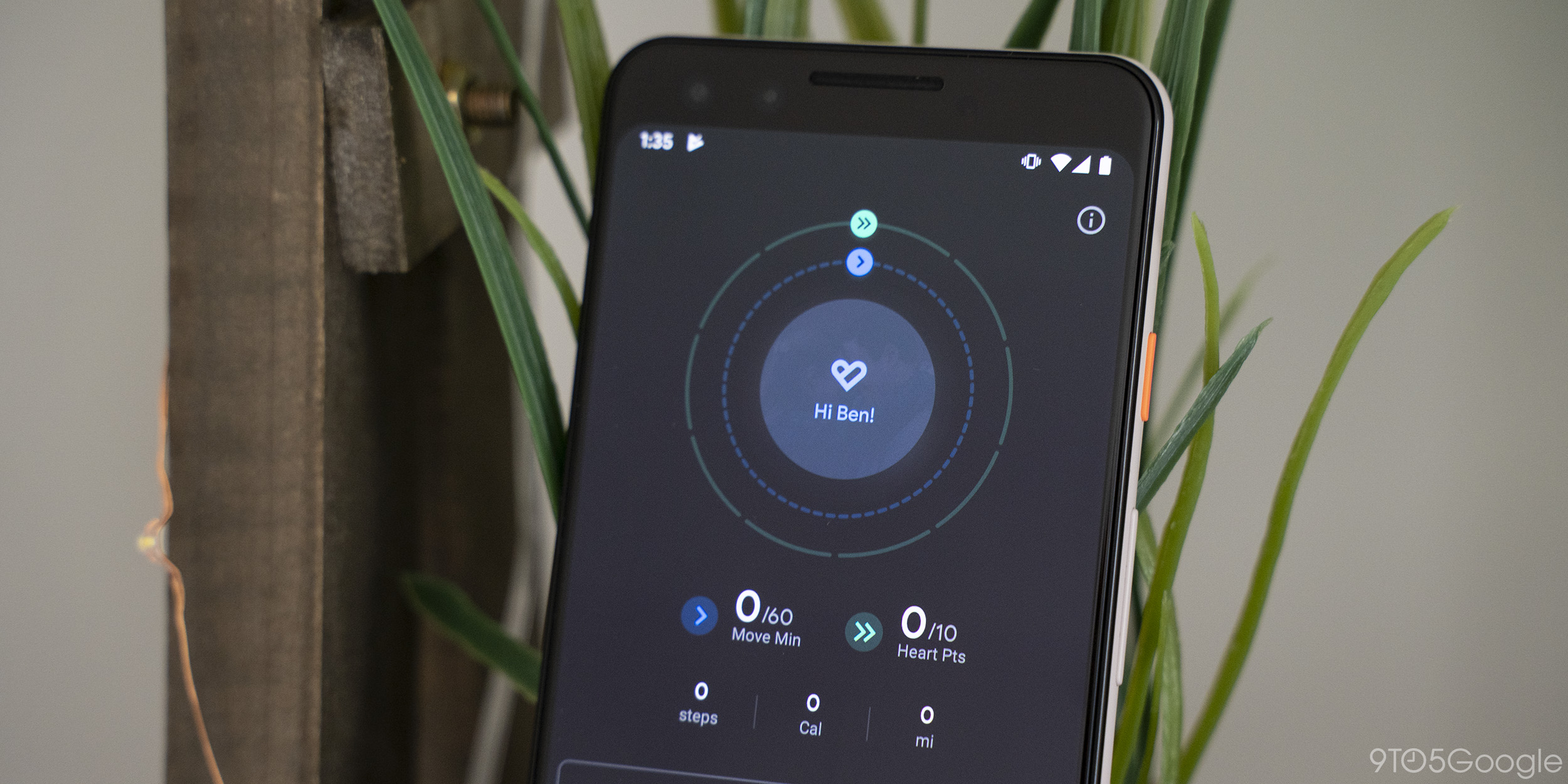 google fit for android with dark mode
