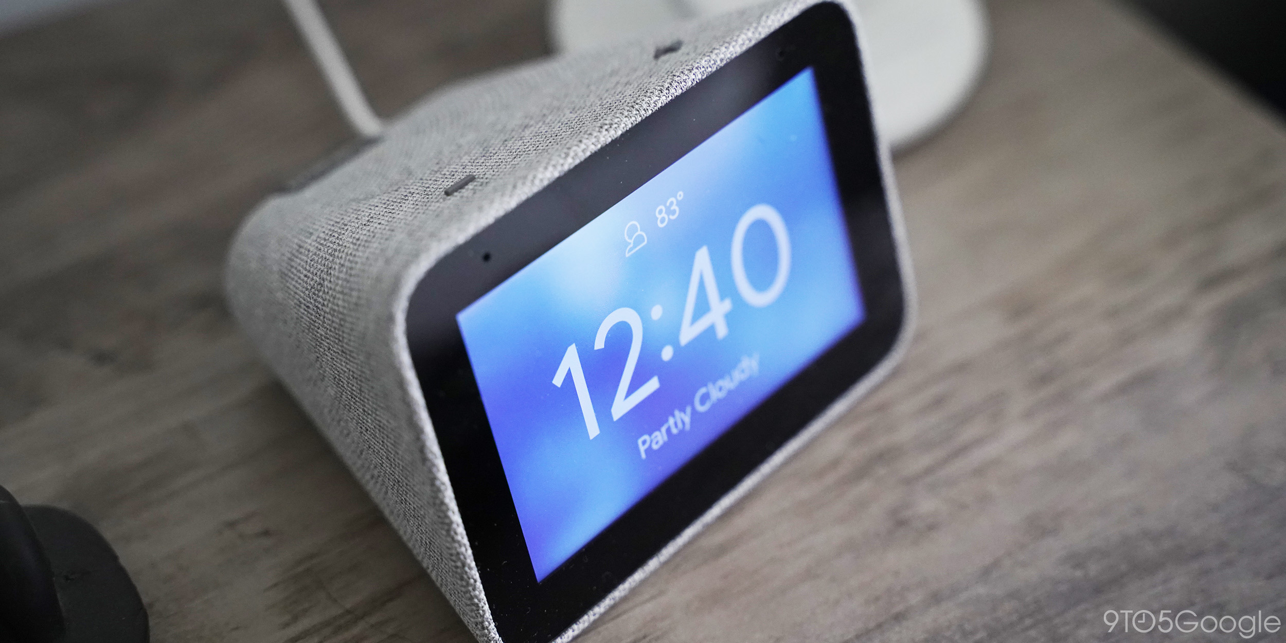 lenovo smart clock weather clockface
