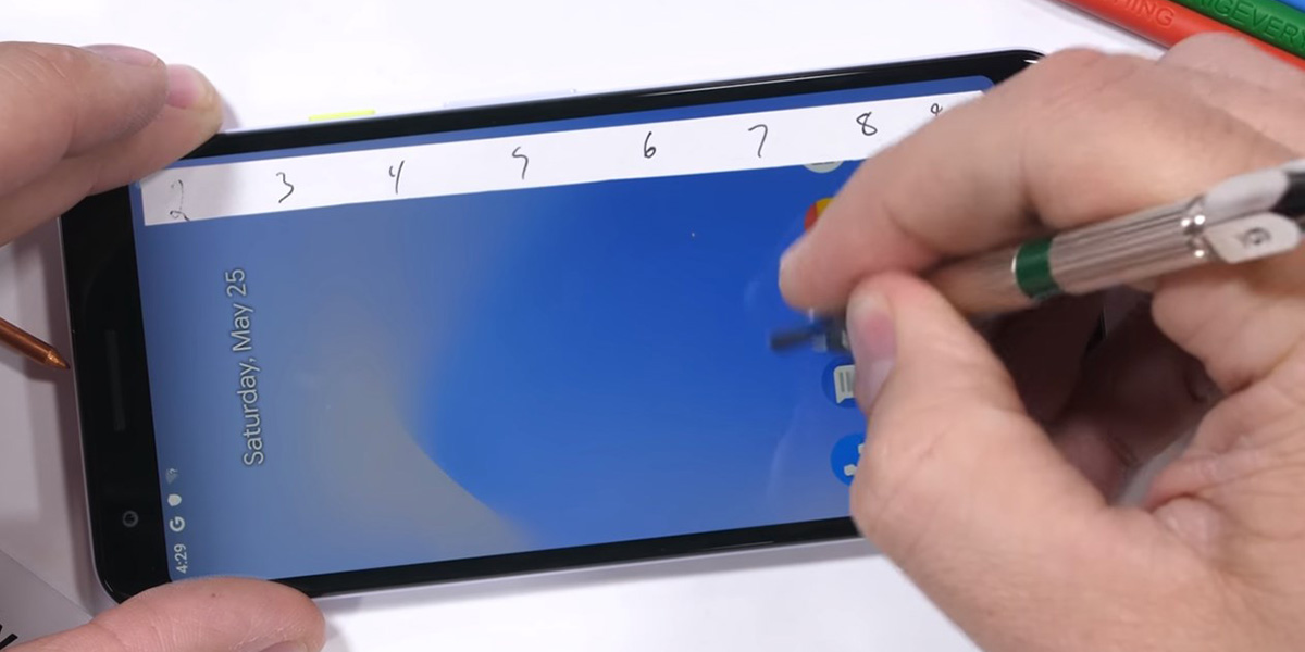 pixel 3a dragontrail scratch test
