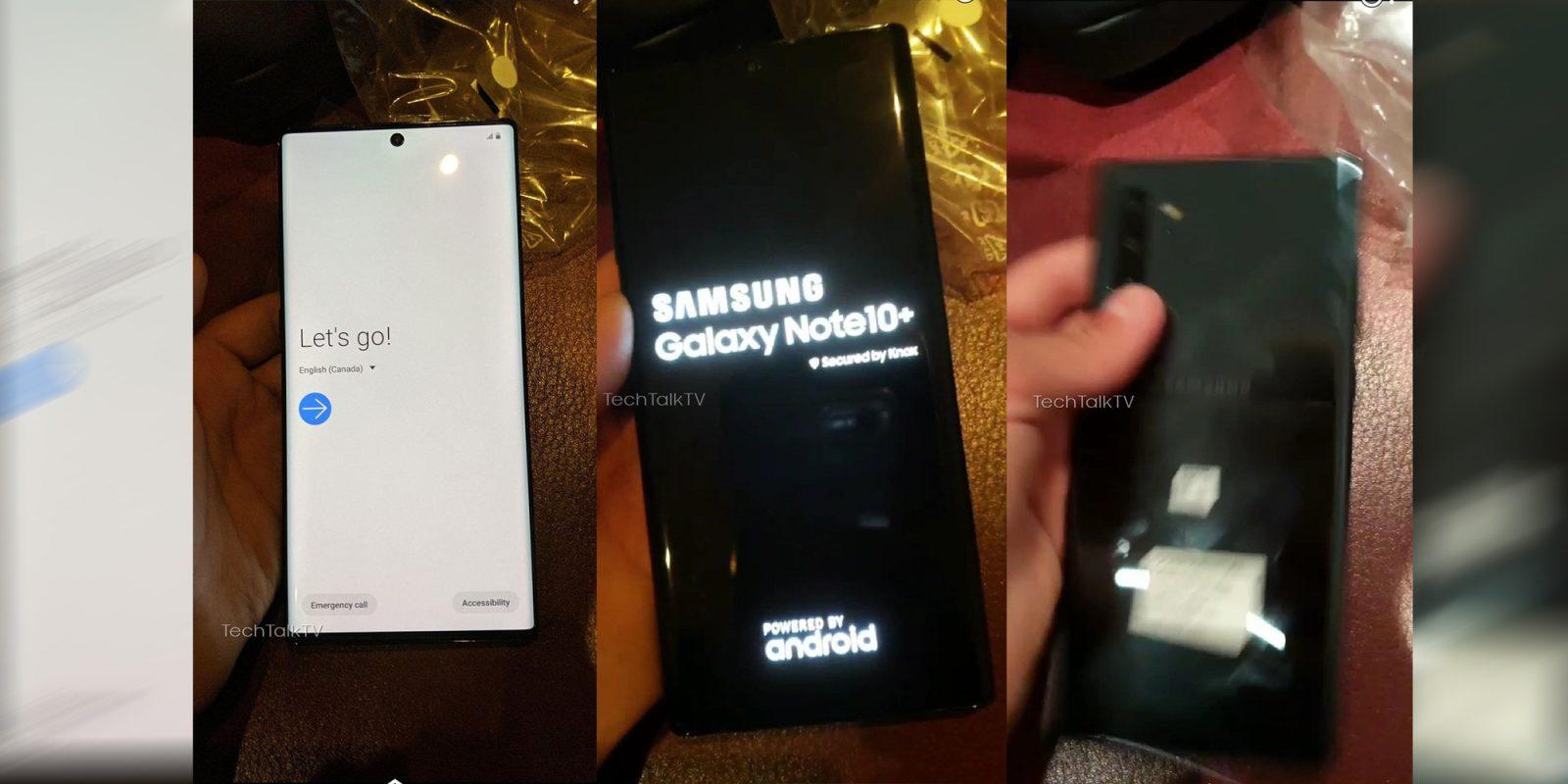 Galaxy Note 10+ hands-on images leak w/ near bezel-less design, punch-hole notch