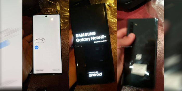 Galaxy Note 10+ hands-on leaks