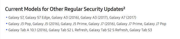 Galaxy S7 regular updates