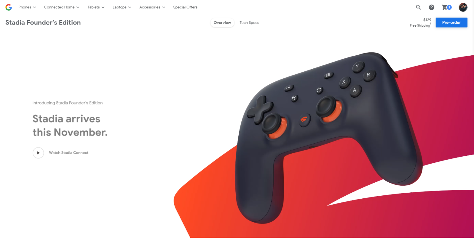 stadia founders edition value