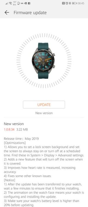 EMUI 9 rolling out to 7 devices, Huawei Watch GT gets Always-on