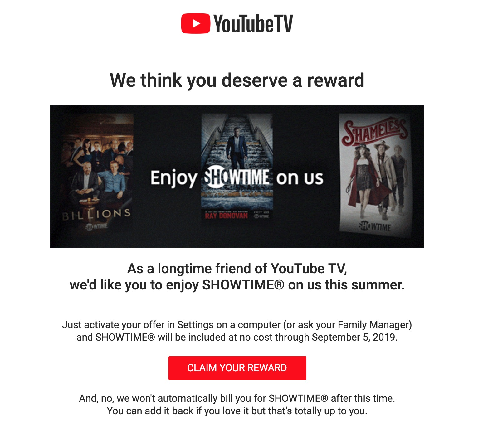 Youtube Tv Offering Longtime Subscribers Free Showtime 9to5google