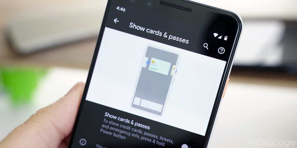 android q google pay power menu