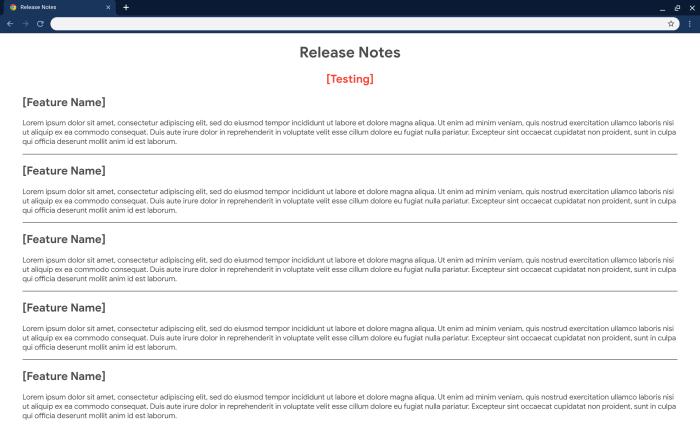 Chrome OS Release Notes app