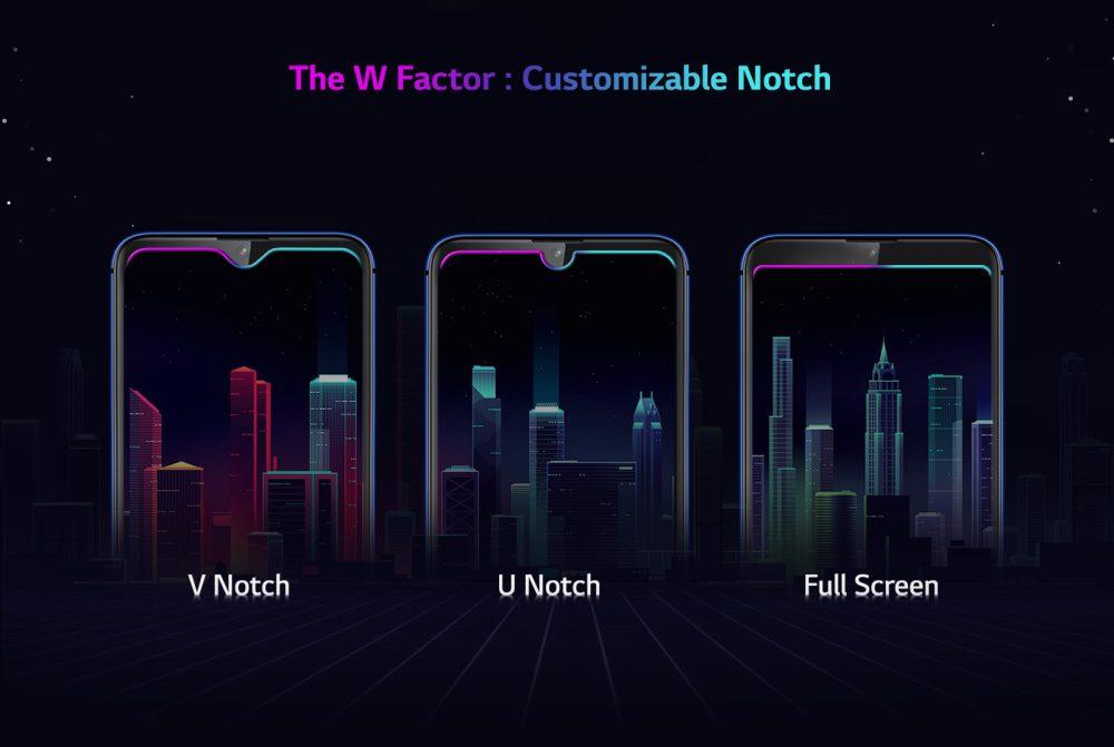 LG W30 custom notch