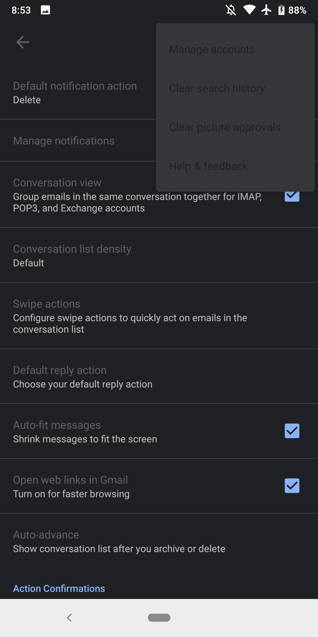 Gmail for Android gains buggy dark theme in settings - 9to5Google