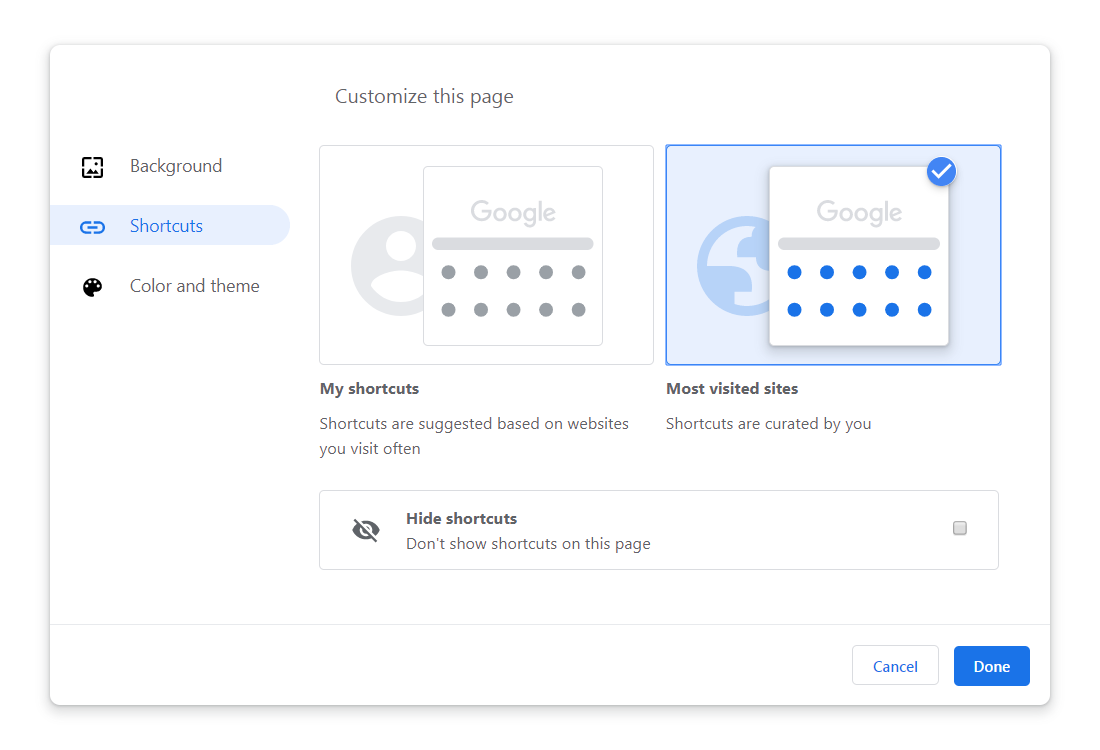 Google Chrome adds built-in themes, customization options