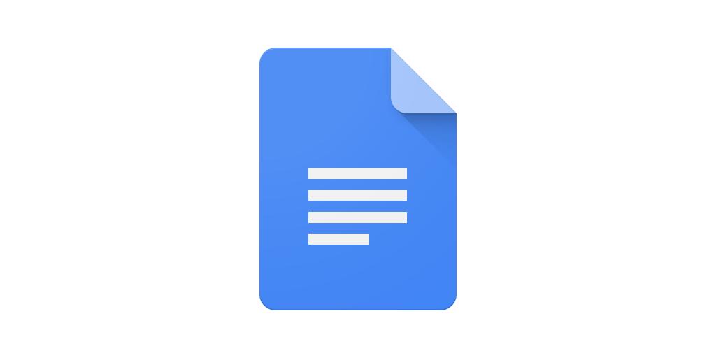 docs google doc drive icon app document word theme android ocr gambar pdf deteksi teks mengenal recognition optical pada untuk