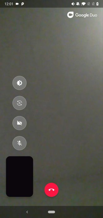 Google Duo 55 Low Light mode