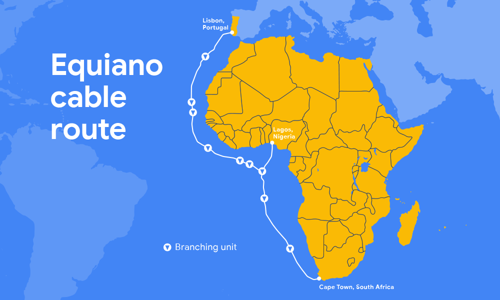 Google Equiano subsea cable