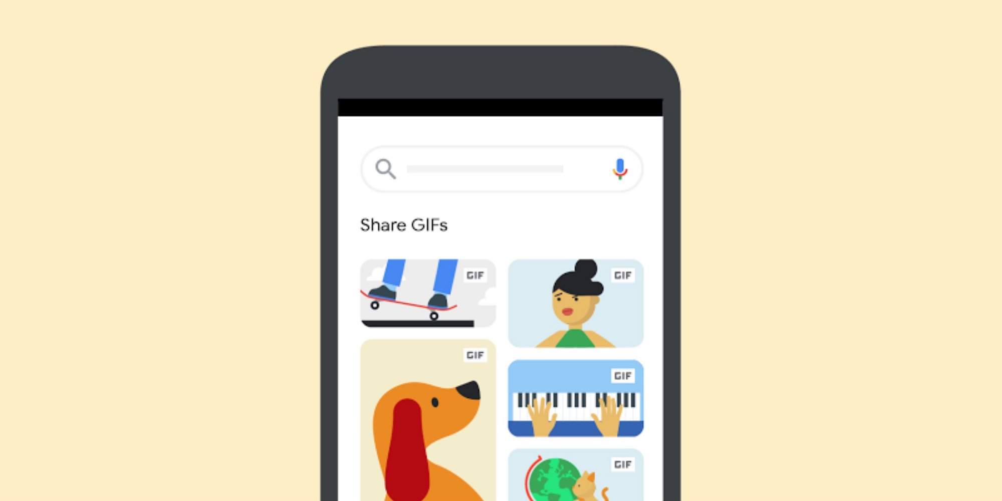 Google Images adding shareable GIFs for direct mobile sharing