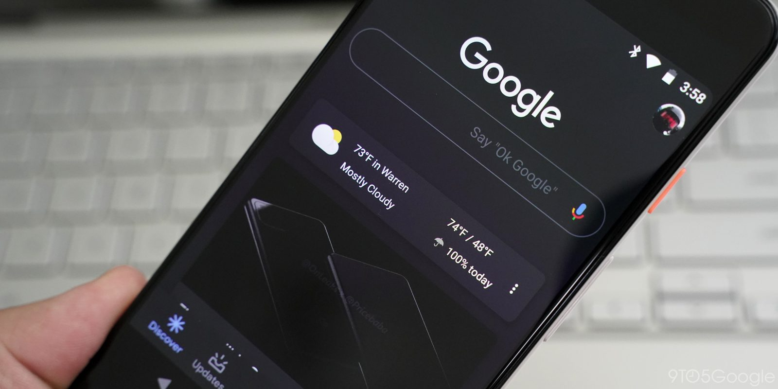 Image result for google app dark mode