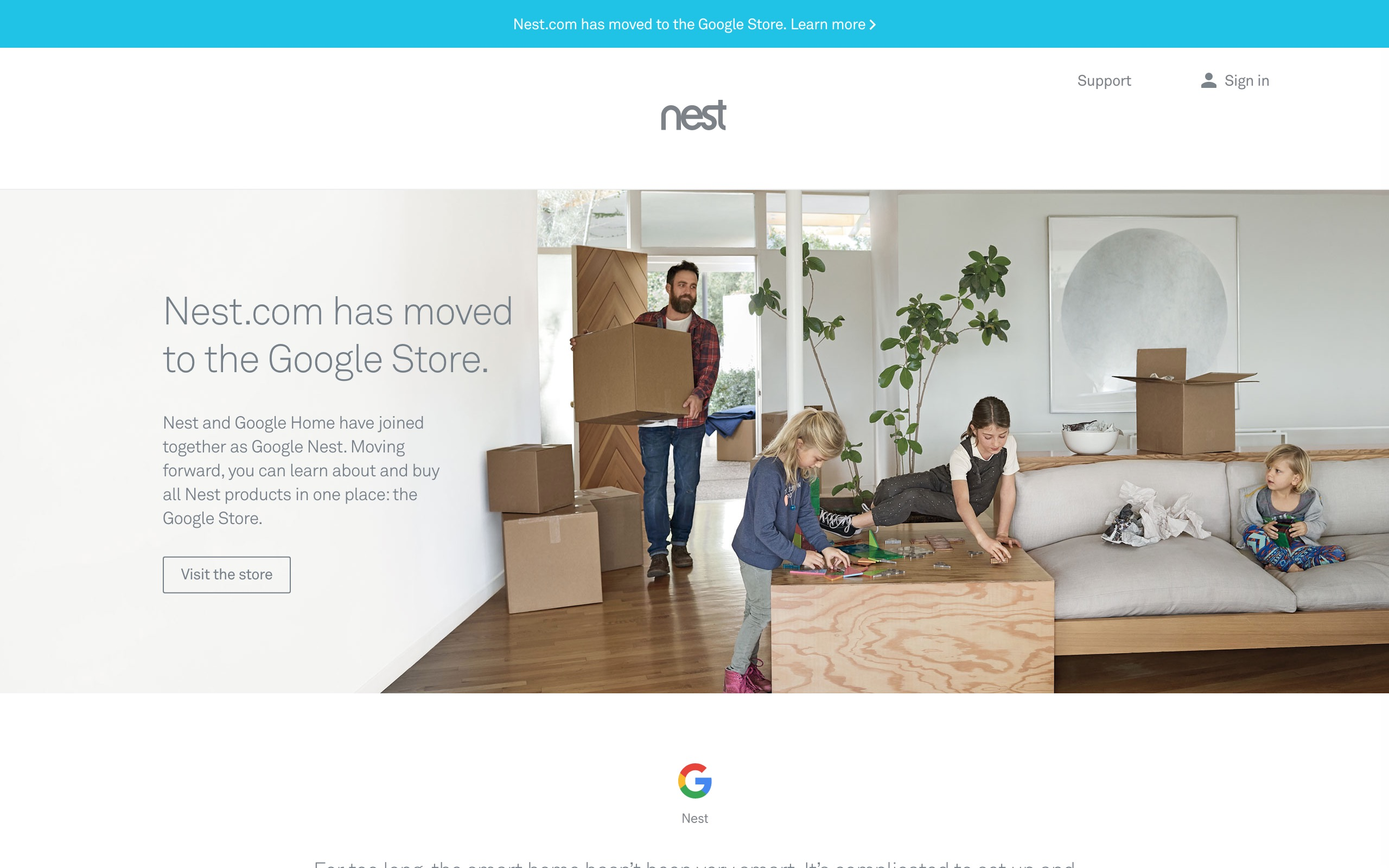 Google Store replaces Nest
