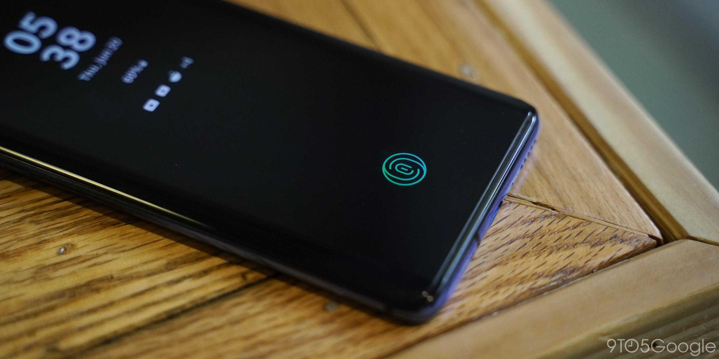 oneplus 7 pro fingerprint sensor