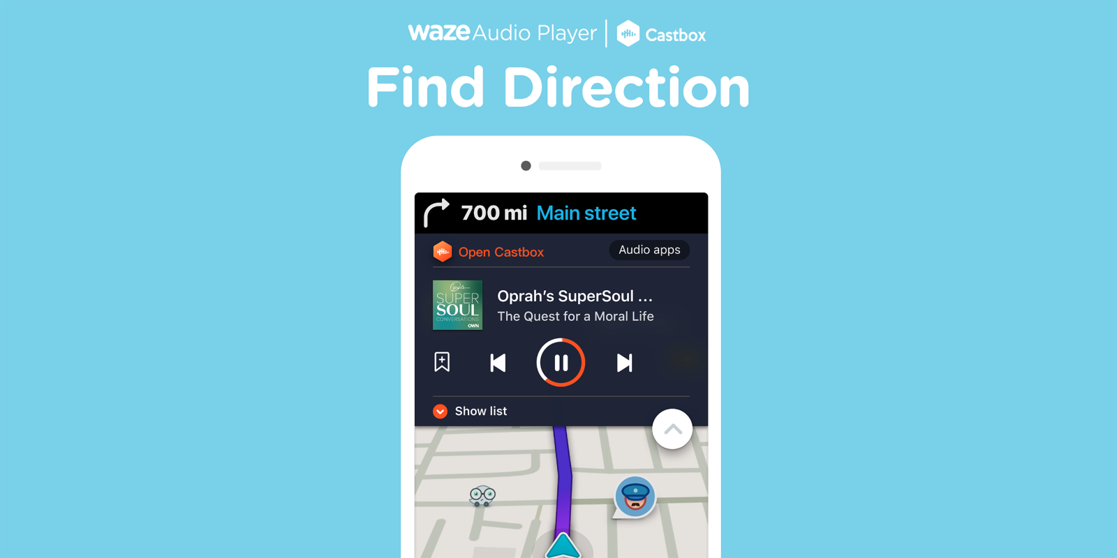 Waze adds support for Castbox podcast player on Android