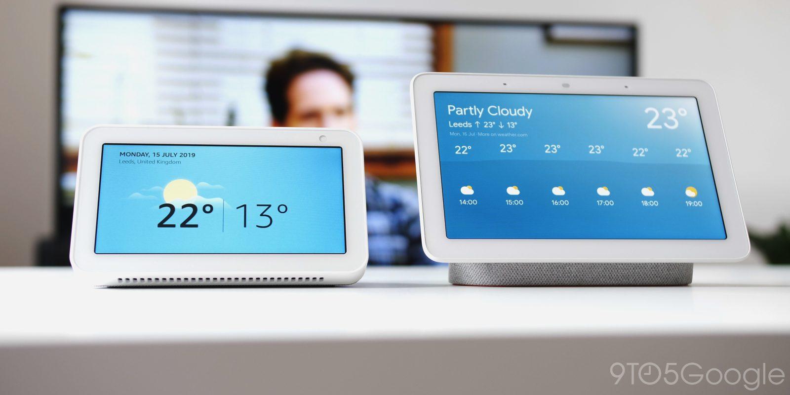 Google Nest Hub Vs Amazon Echo Show 5 Who Wins 9to5google