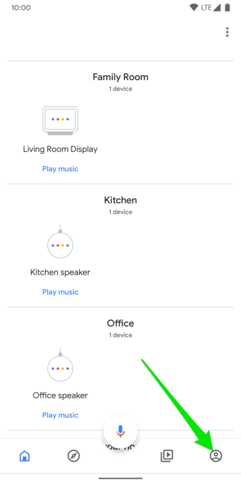 Google Home app on Android homescreen