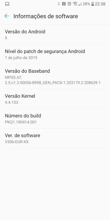 LG V30 Android Pie OTA
