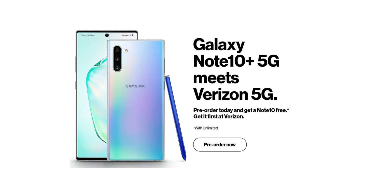 Galaxy Note 10 5g Leaks In Verizon Promo Images 9to5google