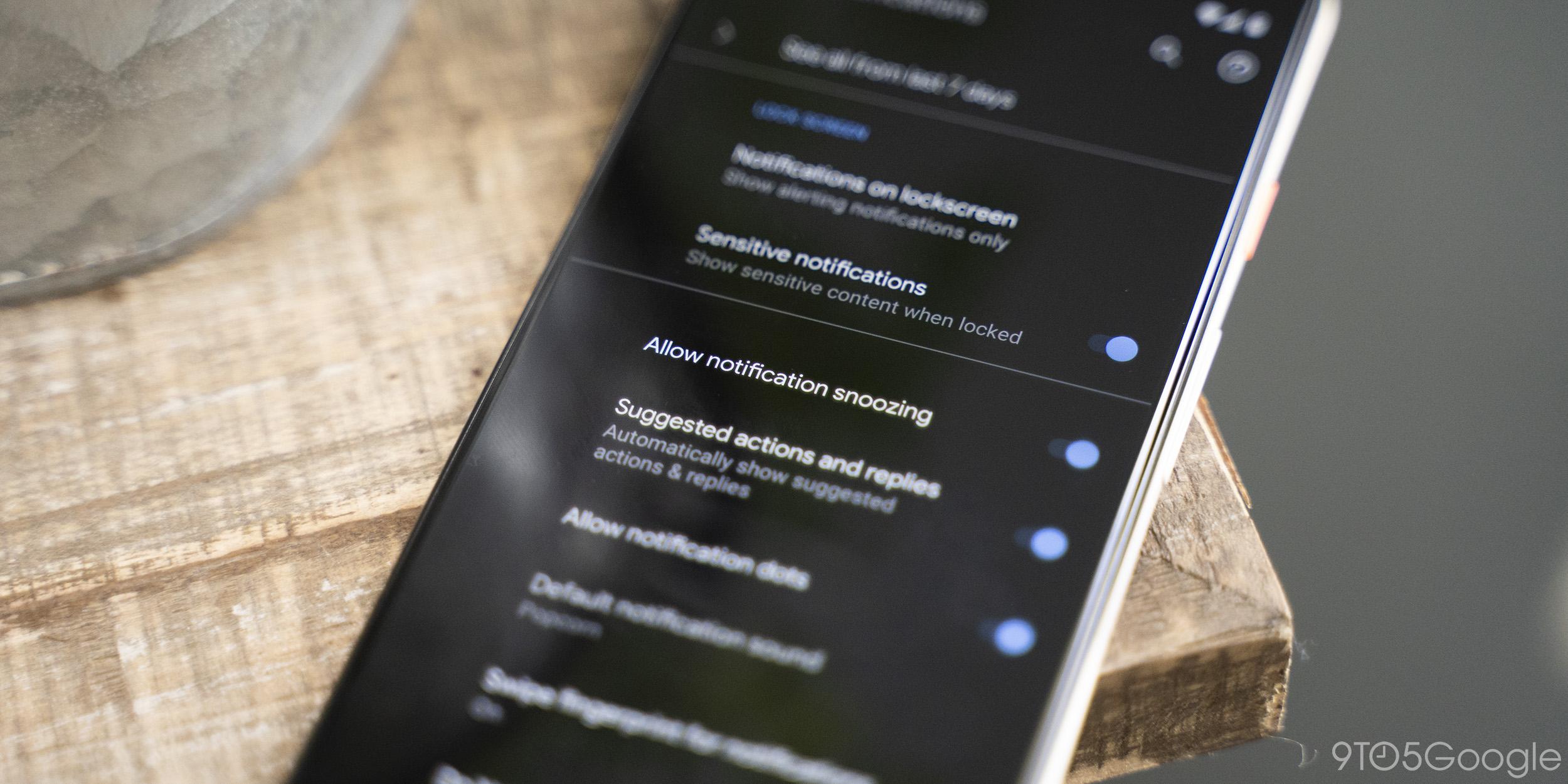 Android Q Beta 5: Benachrichtigungs-Snoozing kann deaktiviert werden, jetzt standardmäßig deaktiviert