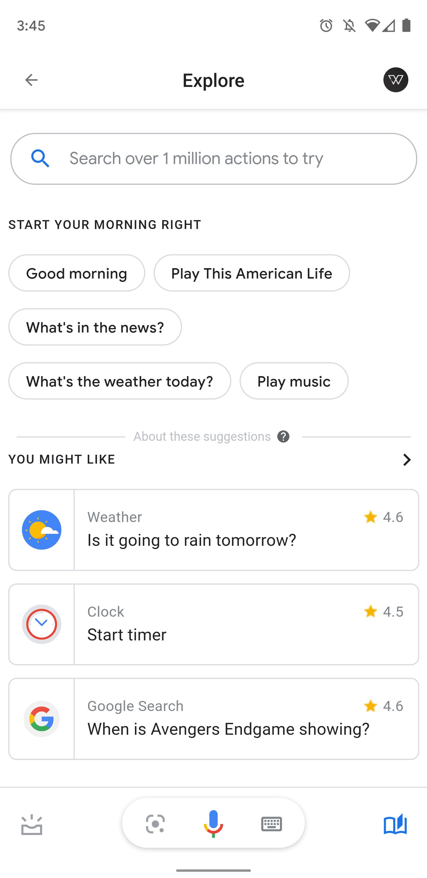 Update: New Explore icon] Google app 10 24 details 'Brief