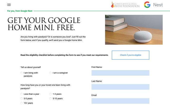Google donating Home Mini