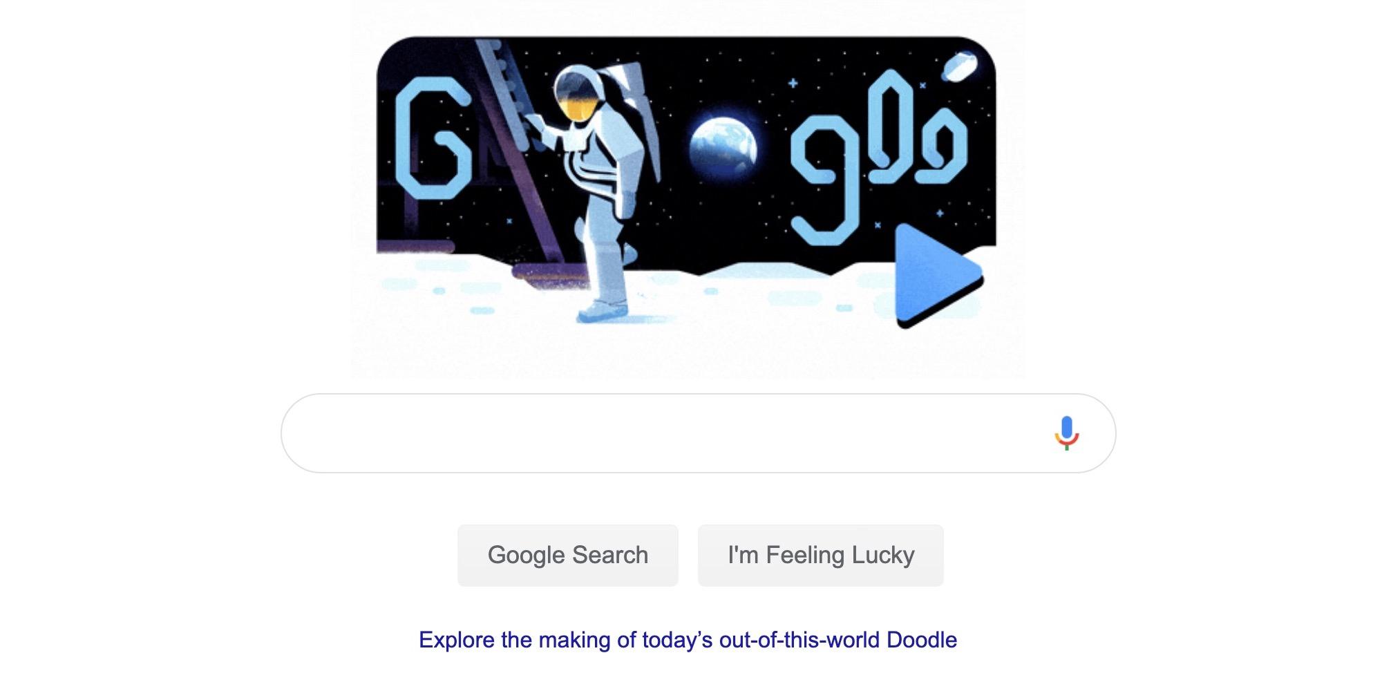 Apollo 11's Michael Collins narrates Moon Google Doodle ...