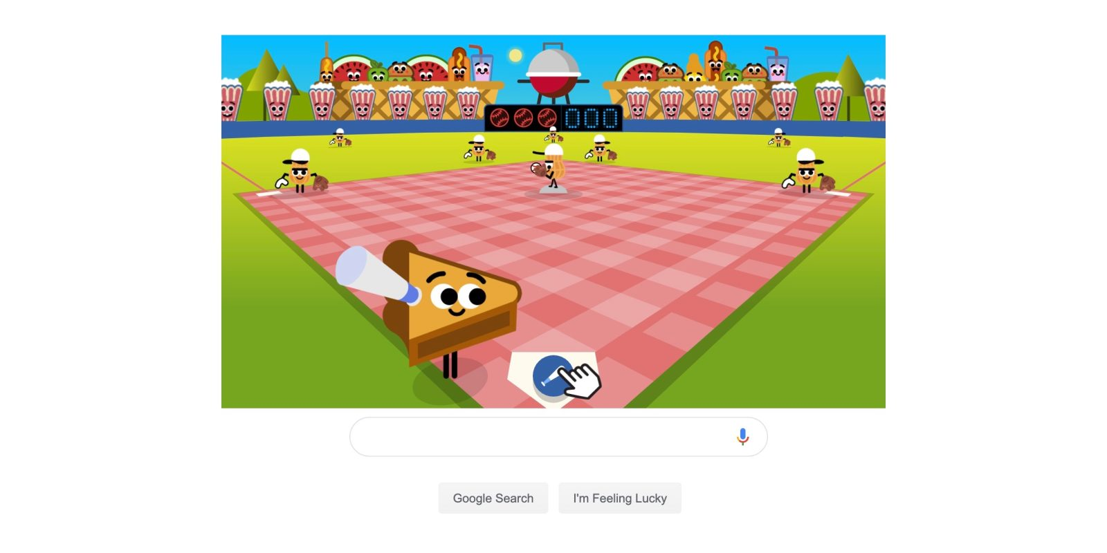 Googles Fourth Of July Doodle Is A Bbq Baseball Game