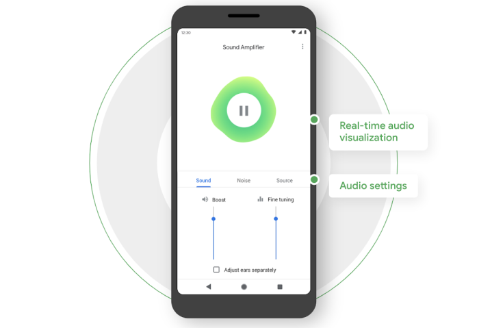 Google Sound Amplifier redesign