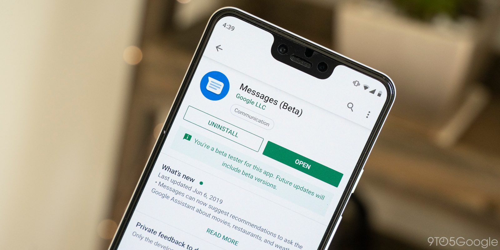 PSA: The first Google Messages beta is crashing - 9to5Google