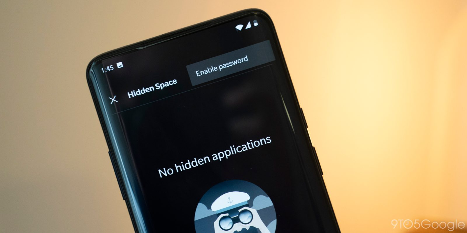 OnePlus Launcher supports a password for 'Hidden Space