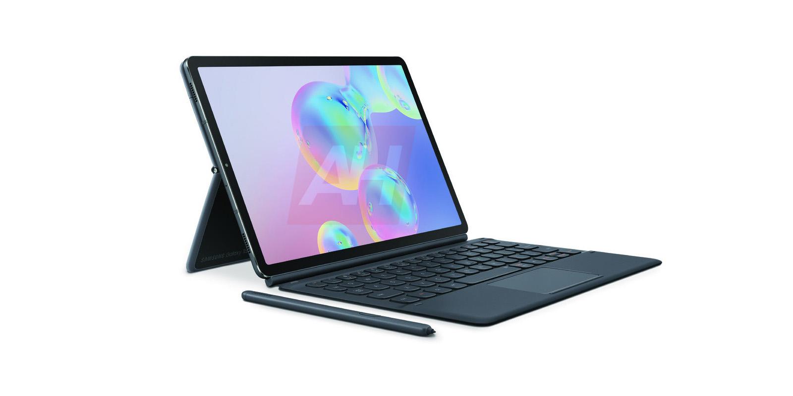 Samsung Galaxy Tab S6 renders show docking stylus, keyboard accessory
