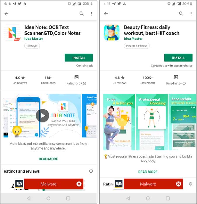 Play Store apps w/ 1 5 million installs ran hidden adware