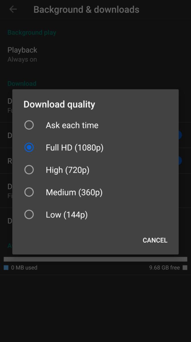 YouTube Premium gains 1080p offline video on Android, iOS