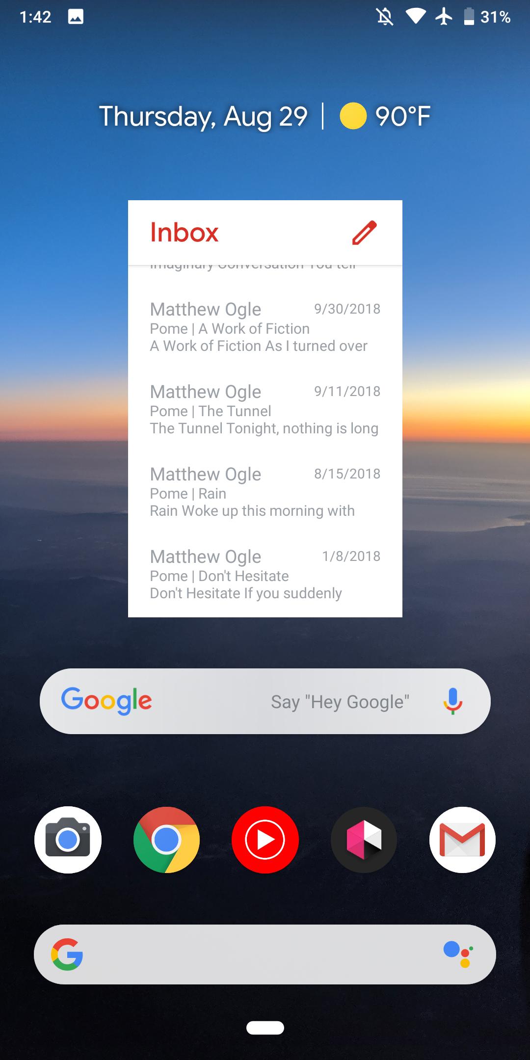 Android gmail widget not updating rozonda thomas dating 2013
