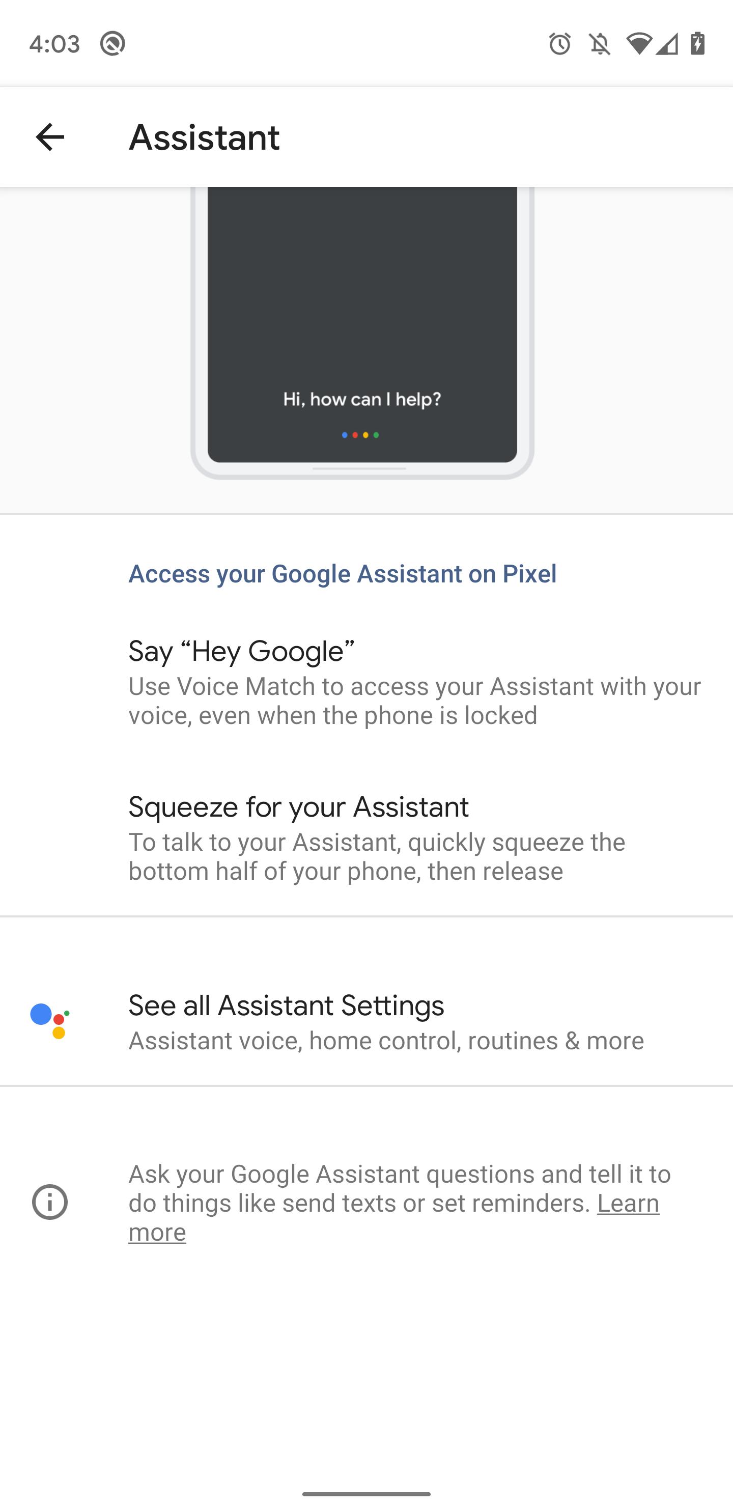Google app 10 38 preps Pixel settings for Assistant, hints at Pixel
