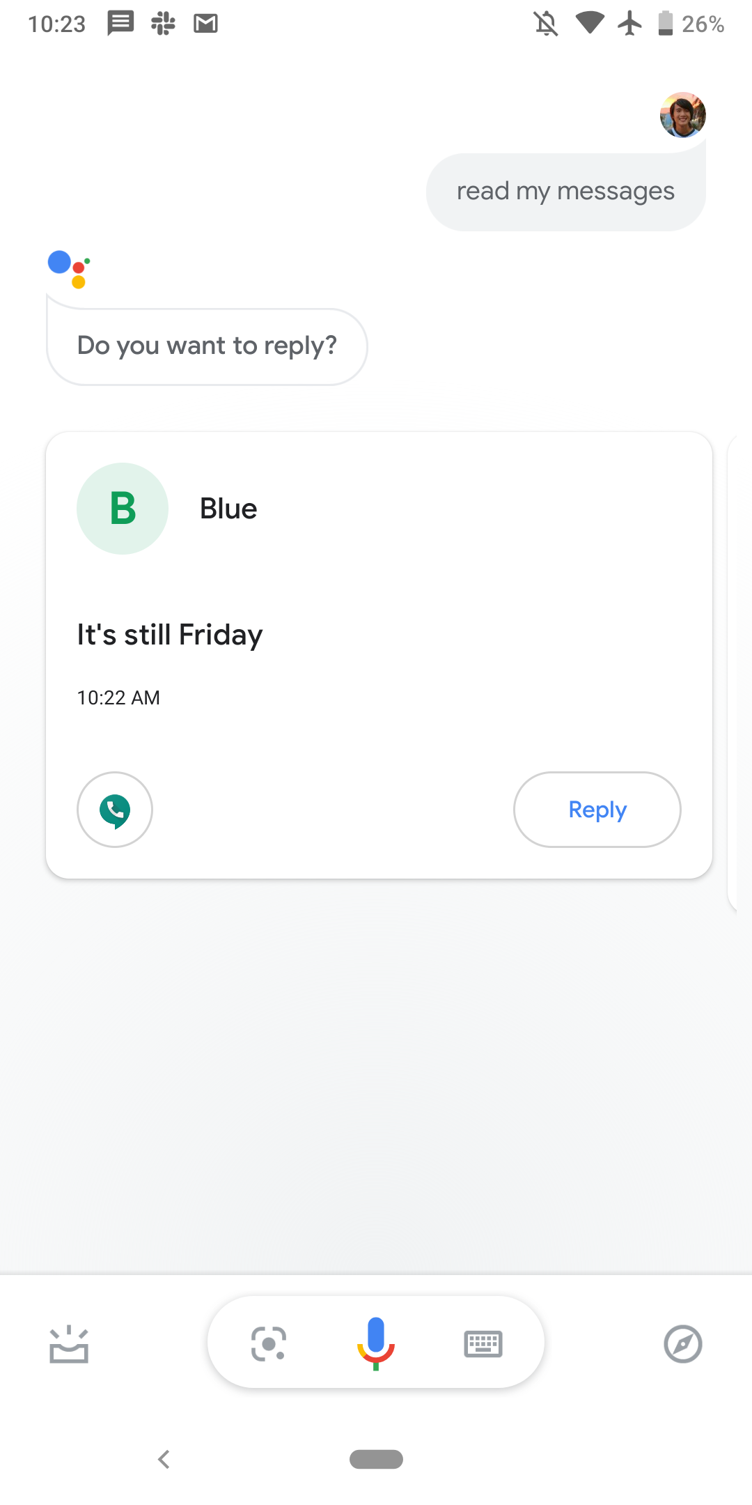 Google Assistant can read new messages from all apps