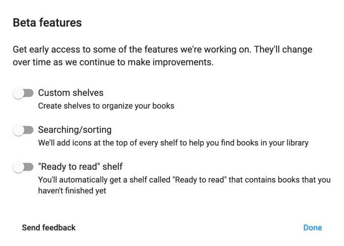 Google Play Books beta