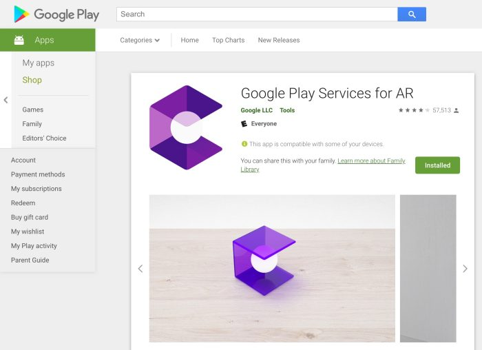 Google Play Services AR