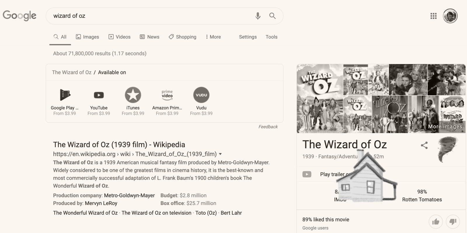 Easter Egg Google Wizard Of Oz