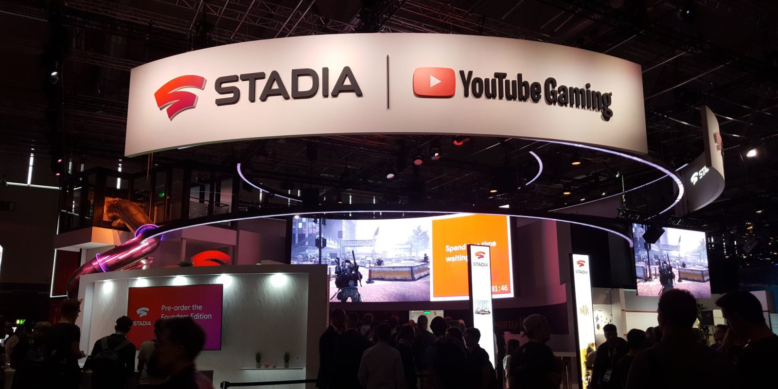 [Update: Video tour] Here's the Google Stadia booth at Gamescom and yes, it has a slide
